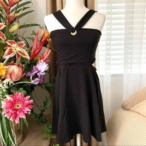 5/$25 ASOS Grommet Cut Out Mini Dress Black 8